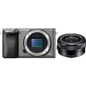 Sony Alpha 6000 grafitový + objektiv 16-50mm (ILCE6000LH.CEC) + ZDARMA Paměťová karta Sony Micro SDHC 16GB Class 10 + SD adaptér