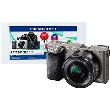 Sony Alpha A6000 grafitový + objektiv 16-50mm + Alza Foto Starter Kit