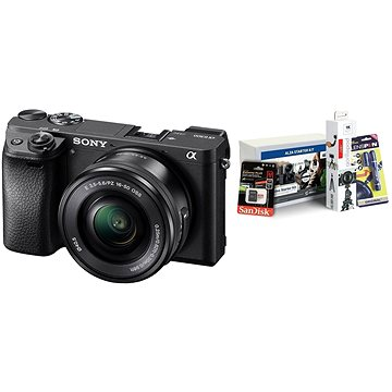 Sony Alpha A6300 + objektiv 16-50mm + Alza Foto Video Starter Kit 2019