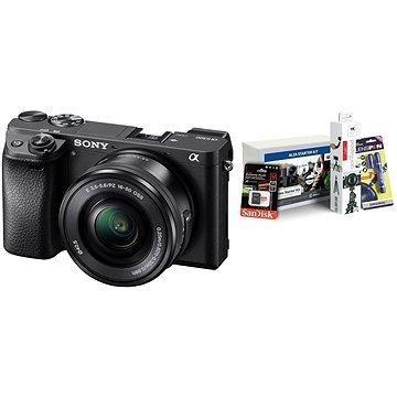 Sony Alpha A6300 + objektiv 16-50mm + Alza Foto Video Starter Kit 2019