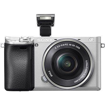 Sony Alpha A6300 stříbrná + objektiv 16-50mm (ILCE6300LS.CEC)