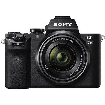Sony Alpha 7II + objektiv 28–70mm (ILCE7M2KB.CEC) + ZDARMA Bluetooth reproduktor Sony SRS-XB20, černá Power Bank Sony CP-E6B černá Paměťová karta Sony SDXC 64GB Class 10 Pro UHS-II 94MB/s