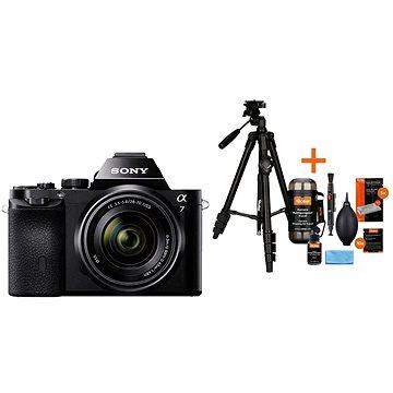 Sony Alpha A7 + objektiv 28-70mm + Rollei Foto Starter Kit 2