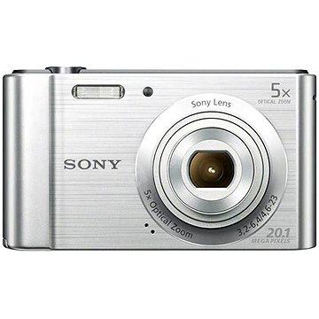 Sony CyberShot DSC-W800 stříbrný (DSCW800S.CE3) + ZDARMA Pouzdro na fotoaparát CONNECT IT CI-209 HardShell černé