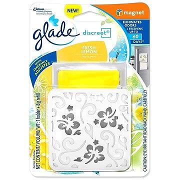 Osvěžovač vzduchu GLADE Discreet Fresh Lemon Magnet 8 g (5000204706383)