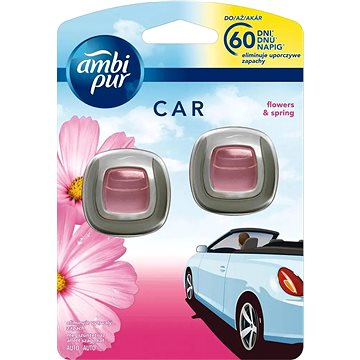 Osvěžovač vzduchu AMBI PUR Car Flower & Spring 2x2ml (4084500996779)