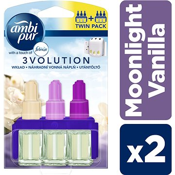 Osvěžovač vzduchu AMBI PUR Electric 3 Volution Moonlight Vannilla 2 x 20 ml (4015400890126)