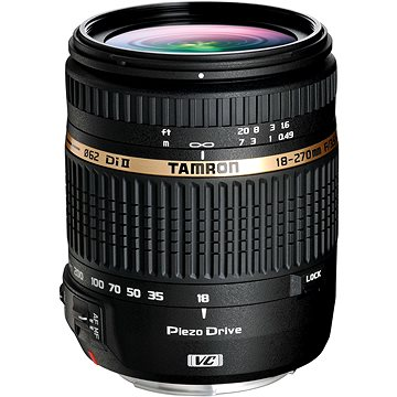 TAMRON AF 18-270mm F/3.5-6.3 Di-II VC PZD pro Nikon + UV filtr Polaroid 62mm + ZDARMA UV filtr Polaroid MC UV 62mm