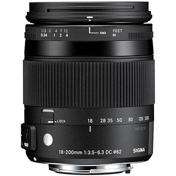 SIGMA 18-200mm f/3.5-6.3 DC MACRO OS HSM pro Nikon (řada Contemporary) (12115300) + ZDARMA UV filtr Polaroid MC UV 62mm