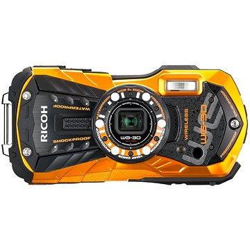 PENTAX RICOH WG-30 Wi-Fi oranžový + 16 GB SD karta + neoprénové pouzdro + plavací řemínek (27075287648)