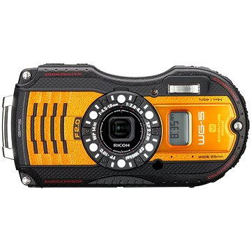 PENTAX RICOH WG-5 GPS Orange + 16 GB SD karta + neoprénové pouzdro + plavací řemínek (0466302)