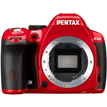 PENTAX K-50 red + objektiv DAL 18-135mm WR (11007)