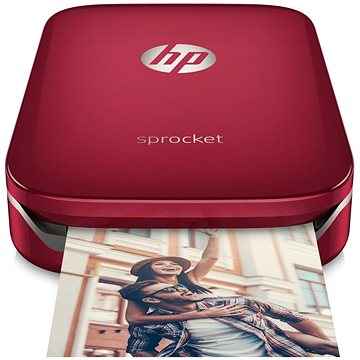 HP Sprocket Photo Printer červená (Z3Z93A)
