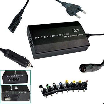 PATONA k ntb/ 100W na 240V/ 12V-24V/ USB/ 8 konektorů/ univerzální/ do sítě i auta (PT2536)
