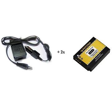 PATONA sada pro GoPro HERO 3/3+ AHDBT-201 nabíječka + 2x baterie 1180mAh (PT1653B)