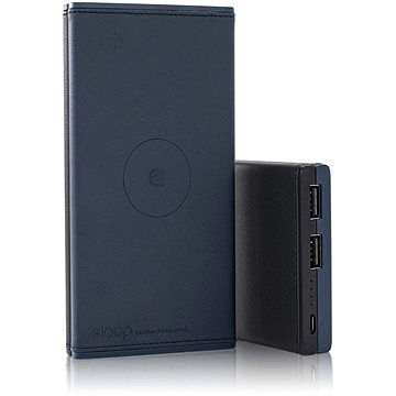 Eloop EW31 10000mAh Wireless Leather Blue/Black (EW31)