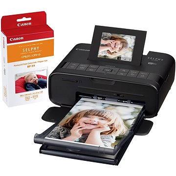 Canon SELPHY CP1200 černá + ZDARMA papíry RP-54 (0599C013)
