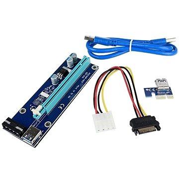 ANPIX ver009s redukce PCIe x1 na PCIe x16 (PCIe riser) (AG-PCIE009M)