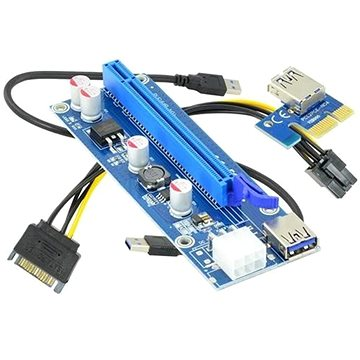 ANPIX ver009s redukce PCIe x1 na PCIe x16 (PCIe riser) (AG-PCIE009)
