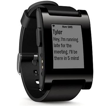 Chytré hodinky Pebble Smartwatch černé (301BL)