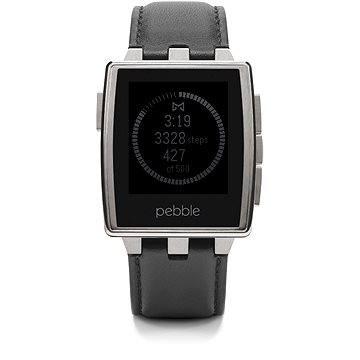 Chytré hodinky Pebble Steel broušená ocel (PEBBLESTEELSS)
