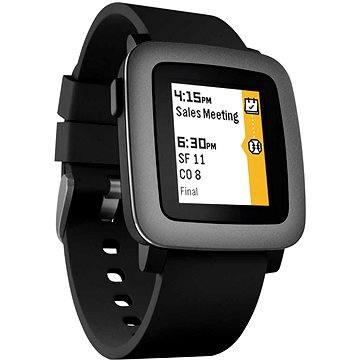 Chytré hodinky Pebble Time Smartwatch černé (501-00020)