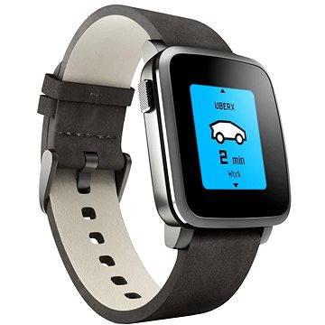 Chytré hodinky Pebble Time Steel Smartwatch černé (51100024)