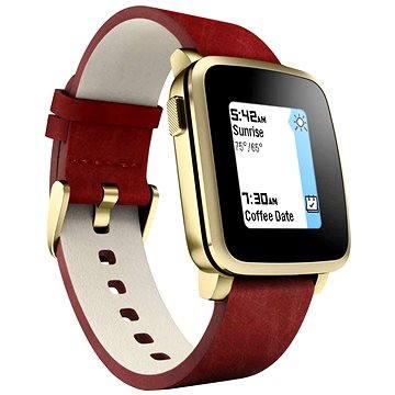 Chytré hodinky Pebble Time Steel Smartwatch zlaté (PEBBLETIMESTGD)