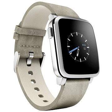 Chytré hodinky Pebble Time Steel Smartwatch stříbrné (51100023)