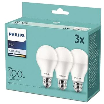 Philips LED 14-100W, E27 2700K, 3ks (929001252995)