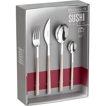 Pintinox Sada příborů SUSHI QUEEN TEAK 24ks, Gift box (17C07091)