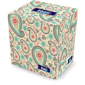 Papírové kapesníky VELTIE Design Box Cube (70 ks) (5901478997647) + ZDARMA Papírové kapesníky KLEENEX Balsam (8 ks)