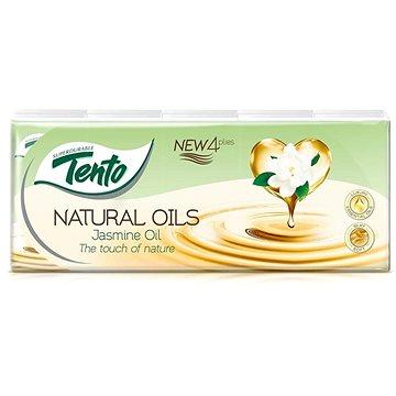 Papírové kapesníky TENTO Natural Oils Jasmine 10 × 10 ks (6414301030705)
