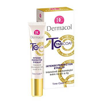 Oční krém DERMACOL Time Coat Eye&Lip Cream 15 ml (8590031099354)