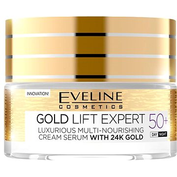 Pleťový krém EVELINE Cosmetics Gold Lift Expert Day&Night 50+ 50 ml (5901761941944)