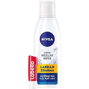 Micelární voda NIVEA Osvěžující micelární voda 200 ml + Labello Jahoda (9005800286174)