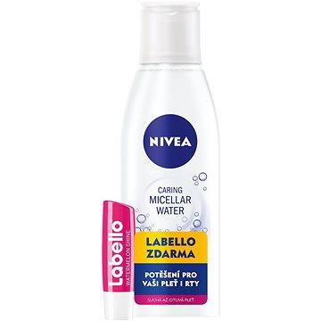 Micelární voda NIVEA Jemná micelární voda 200 ml + Labello Meloun (9005800286167)
