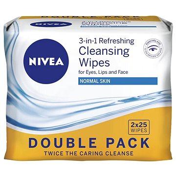 NIVEA Cleansing Wipes Normal skin Duopack 2 × 25 ks (9005800293301)
