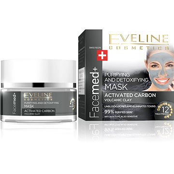 Maska EVELINE COSMETICS FACEMED+ CLEANSING MASK WITH ACTIVE COAL 50 ml (5901761949810)