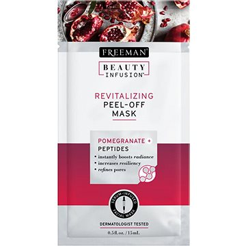 Pleťová maska FREEMAN Beauty Infusion Revitalizační slupovací maska granátové jablko + peptidy 15 ml (72151556156)