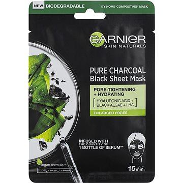 GARNIER Skin Naturals Pure Charcoal Black Tissue Mask s extraktem z mořských řas 28 g (3600542097253)