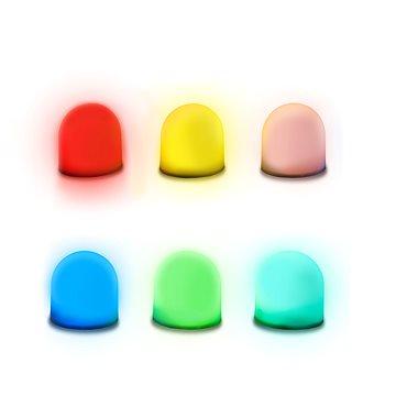 Sensory Mini Light up Domes (pk 6) (SML6)