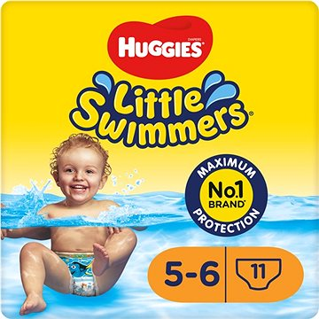 Huggies little swimmers medium 11-15kg 11ks + ZDARMA Vlhčené ubrousky HUGGIES Pure 56 ks