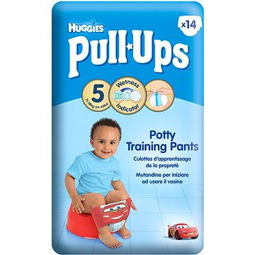 Plenky HUGGIES® Pull Ups Medium - Boys 14-18 kg, 14 ks
