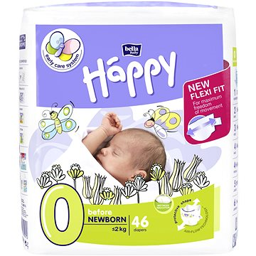 Bella Happy before newborn 46ks + ZDARMA Dětské vlhčené ubrousky HAPPY Baby Čisticí ubrousky 24 ks