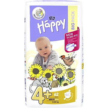 Plenky Bella Baby Happy Maxi Plus Big Pack 62 ks