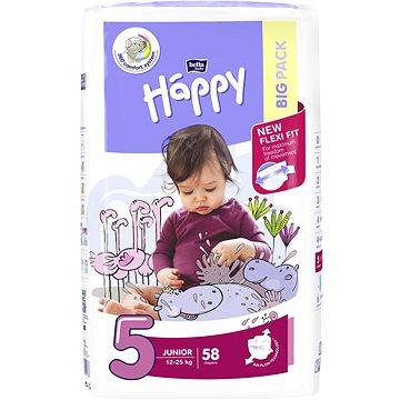Plenky Bella Baby Happy Junior Big Pack 58 ks + ZDARMA Dětské vlhčené ubrousky BELLA Happy Classic Sensitive (56 ks)