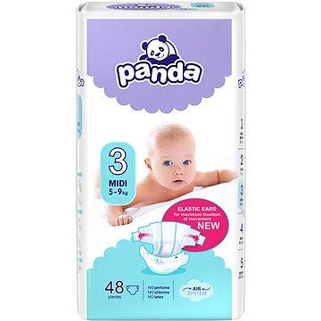 Plenky Panda Midi 48 ks + ZDARMA Dětské vlhčené ubrousky PANDA Vit.E&Alantoin (64 ks)