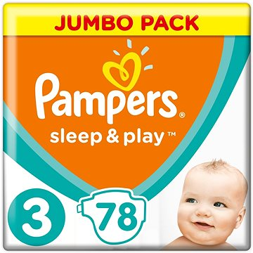 Pampers Sleep&play midi 4-9kg 78ks