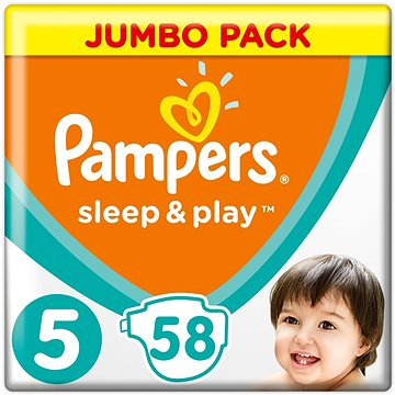 Pampers Sleep&play junior 11-25kg 58ks